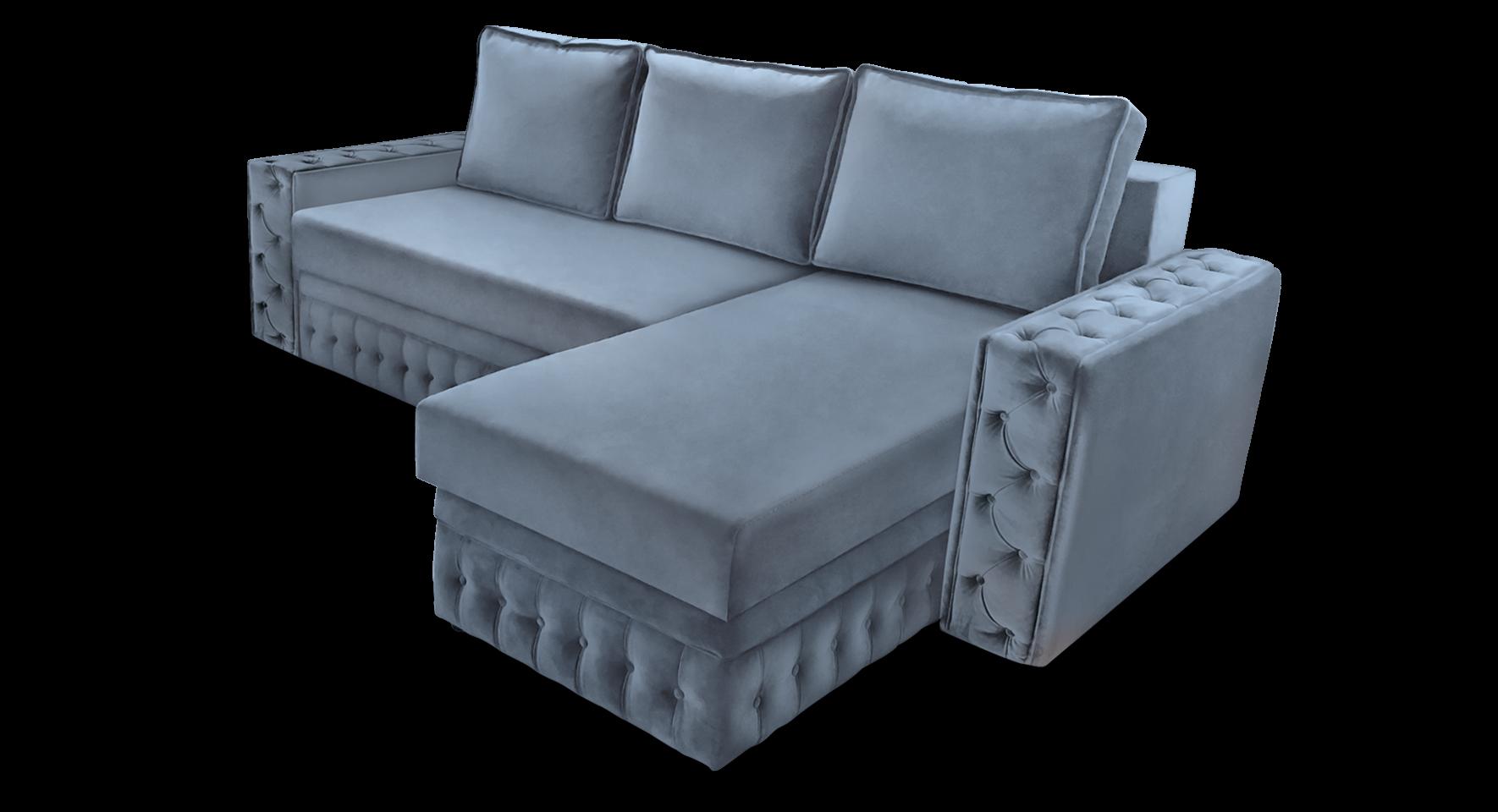 Угловой диван Рим двойной с оттоманкой