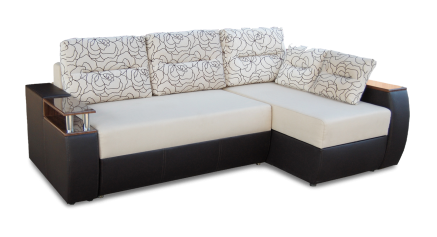 купить Диван с оттоманкой, диван длинный бок, диван с оттоманкой Максимус, диван с оттоманкой еврокнижка Максимус