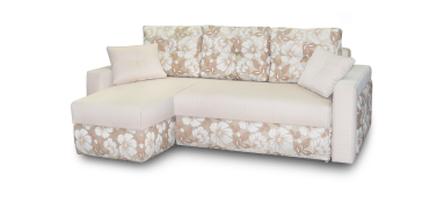 Угловой диван Луиза с оттоманкой